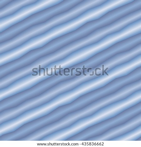 Seamless abstract texture with blue 3d tubes - stock vector