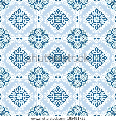 Seamless abstract tiled pattern vector - stock vector