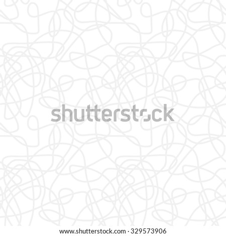 Seamless abstract vector eps8 pattern - repeat curved lines light monochrome background - stock vector