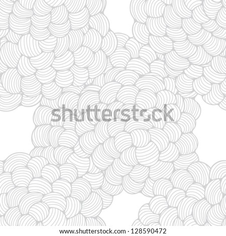 Seamless abstract wave hand-drawn pattern. - stock vector