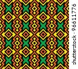 Seamless African Pattern - stock vector