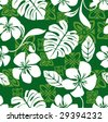 Seamless Aloha Friday Hawaiian Shirt Pattern - stock vector