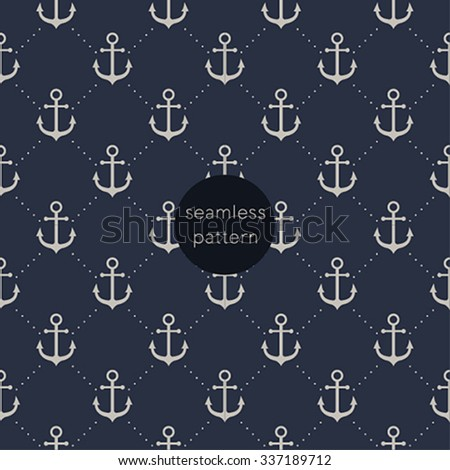 Seamless anchor pattern. - stock vector