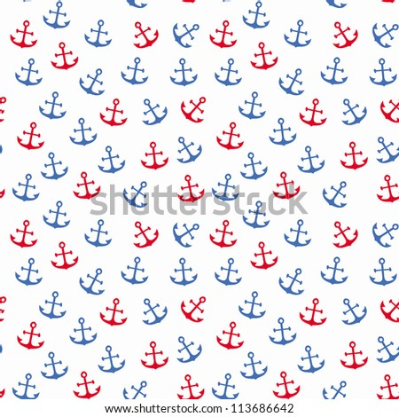 Seamless anchor pattern/ Vector illustration