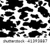 Seamless animal pattern skin fur vector cow - XXL version in jpeg available in my portfolio - stock vector