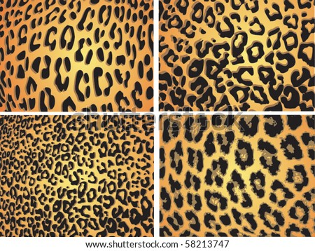 Seamless animal pattern skin fur vector leopard pack collection