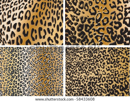 Seamless animal pattern skin fur vector pack