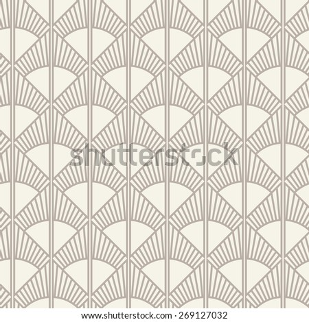Seamless anthracite gray art deco sun rays pattern vector - stock vector