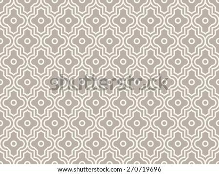 Seamless anthracite gray enhanced moroccan pattern vector - stock vector