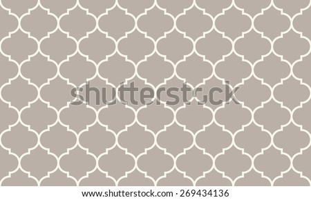 Seamless anthracite gray wide moroccan pattern vector - stock vector