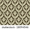 Seamless antique background image - tileable and vector - stock vector