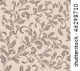 Seamless antique floral pattern - stock vector