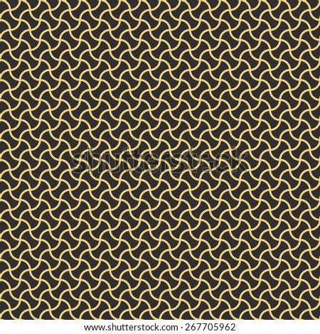 Seamless antique palette arc based geometric pattern vector - stock vector