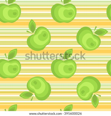 Seamless apple background vector pattern for advertising, design, web, tissue, packaging