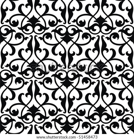 Seamless arabesque background - stock vector