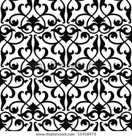 Seamless arabesque background - stock vector