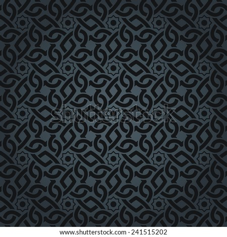 seamless arabic pattern in a dark color - stock vector