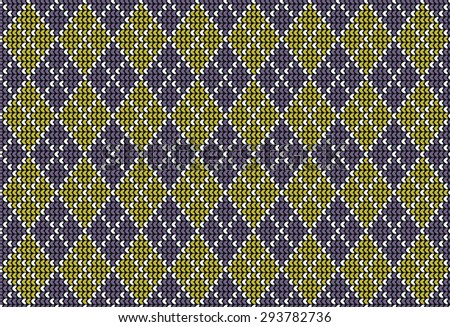 Seamless argyle background pattern in pastel green and rose colors. Vector illustration - stock vector