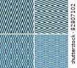 Seamless argyle pattern, composed of dots. Vector - stock vector