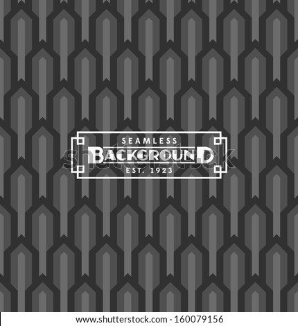 seamless art deco background with label - stock vector