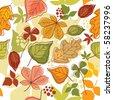seamless autumn  background - stock vector