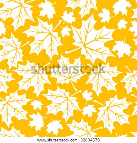 Seamless Autumn Leaf Wallpaper