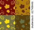 Seamless autumn pattern - stock vector