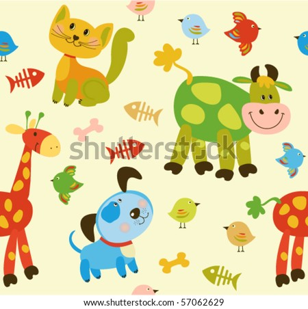 Seamless baby background - stock vector