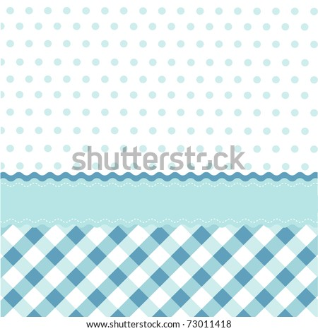 seamless baby blue pattern, wallpaper - stock vector