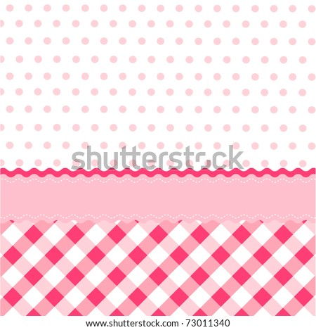 seamless baby girl pattern, wallpaper - stock vector