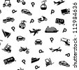 Seamless backdrop transport icons, wrapping paper, 10eps - stock vector