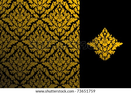 Seamless background and floral pattern for ornate. Jpeg version also available in gallery - stock vector