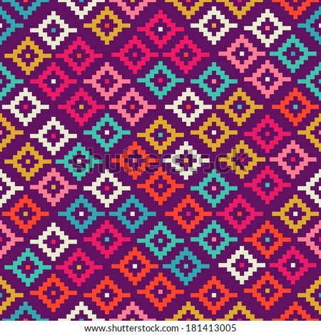 Seamless Background Can Be Used Wallpaper Stock Vector ... Mexican Blanket Texture