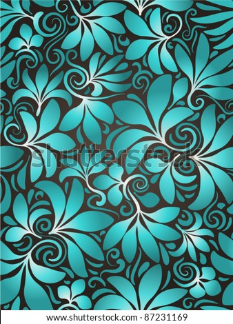 Seamless background floral - stock vector