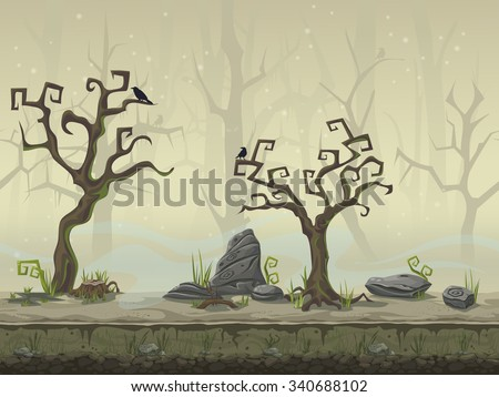 seamless background for a computer game location swamp - stock vector
