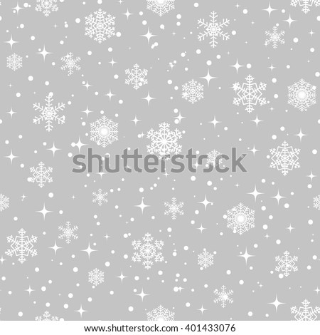 Seamless background for Christmas with snowflakes pattern - stock vector