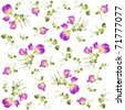 Seamless background from a flowers ornament, fashionable modern wallpaper or textile.Fragrant pea. - stock vector