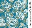 Seamless background from a paisley ornament, Fashionable modern wallpaper or textile - stock vector