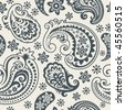 Seamless background from a paisley ornament, Fashionable modern wallpaper or textile - stock photo