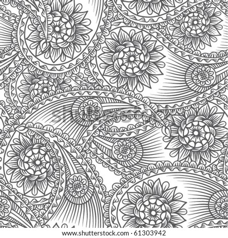 Seamless background from a paisley ornament, Fashionable modern wallpaper or textile