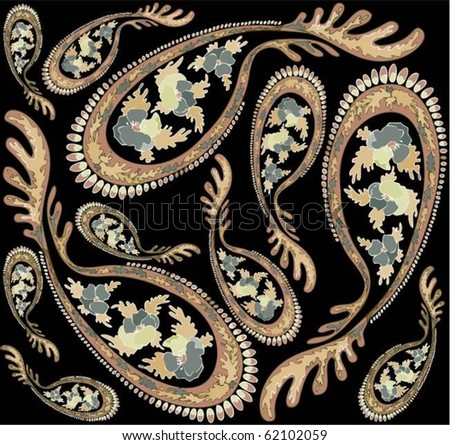 Seamless background from a paisley ornament, fashionable modern wallpaper or textile.eps10