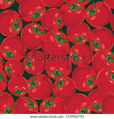 seamless background from ripe autumn vegetable tomato - stock vector