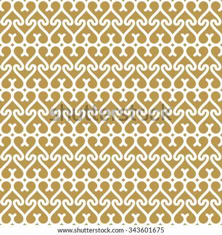 Seamless Background In Arabic Style Gold Wallpaper With Patterns For Design Traditional Oriental Decor
