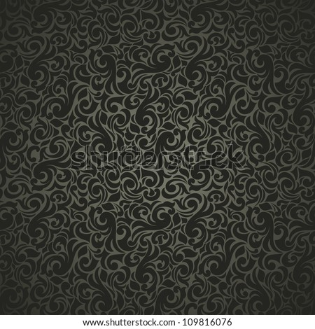 Seamless background in old-style black - stock vector