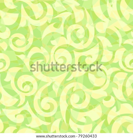 Seamless background it is yellow a green mosaic with monograms