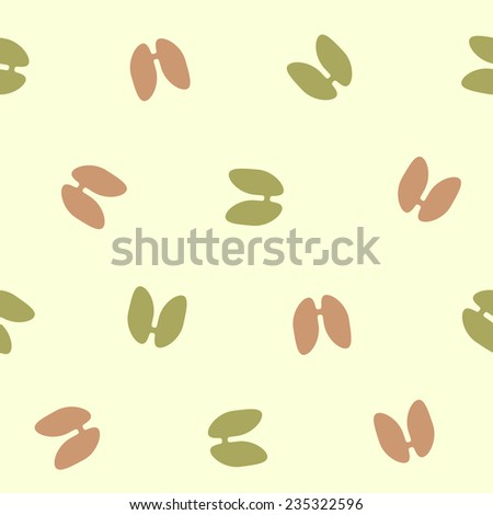seamless background: lung - stock vector