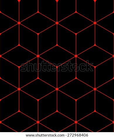Seamless background made from hexagons - stock vector