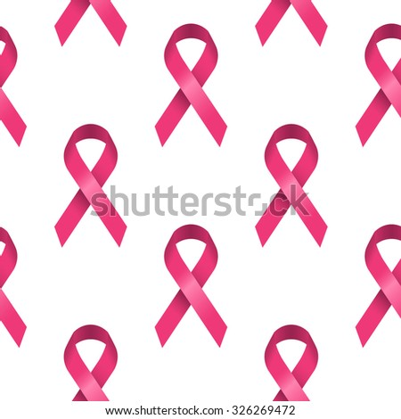 Seamless background made from pink ribbons