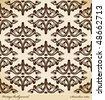 Seamless background Medieval Ornament retro. Vector illustration - stock vector