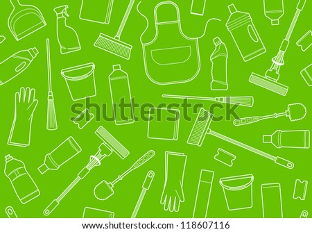 Seamless background of cleaning - stock vector